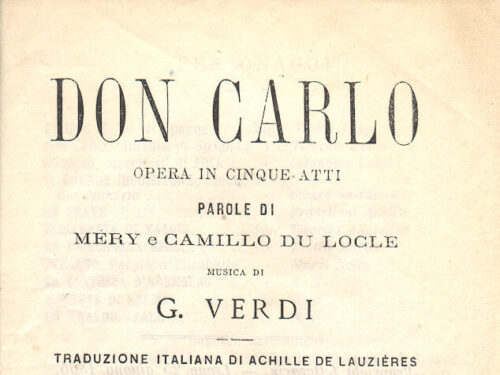 L'opera 21 – Giuseppe Verdi – Don Carlos – Labo, Bastianini, Christoff, Stella, Santini