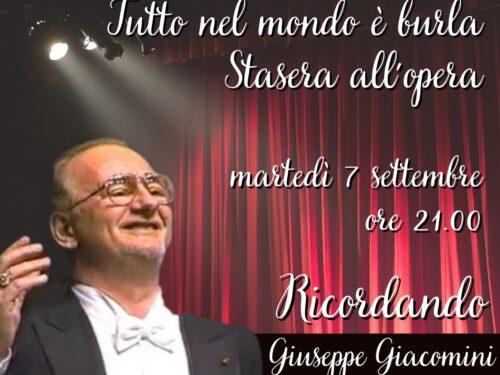 DIRETTA – Tutto nel mondo è burla – stasera all'opera – Ricordo di Giuseppe Giacomini