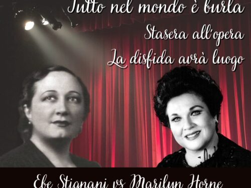 """DIRETTA – Tutto nel Mondo è Burla Stasera all'Opera – La Disfida avrà luogo """"Ebe Stignai vs Marilyn Horne"""""""